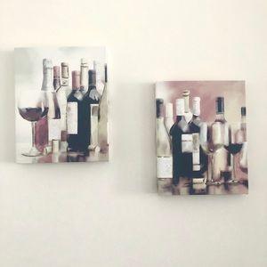 Wine bottles frames